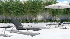 金屬戶外家具 泳池沙灘躺椅 酒店家具 高端