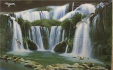 佛山风景系列三维3D立体背景墙厂招商加盟A