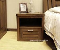 上海家具廠家直銷臥室床頭柜黑胡桃木抽屜柜