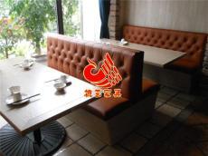 港式茶餐厅皮革卡座 主题休闲餐厅卡座沙发
