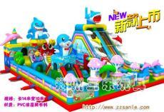 广东珠海大型充气滑梯光头强波浪滑梯最流行