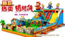 广东惠州波浪充气大滑梯+大攀岩一平米价格