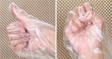 白色透明全新料一次性手套