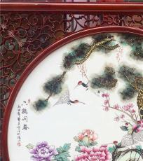 陶瓷瓷板画 乔迁礼品陶瓷画 家居装饰瓷板画