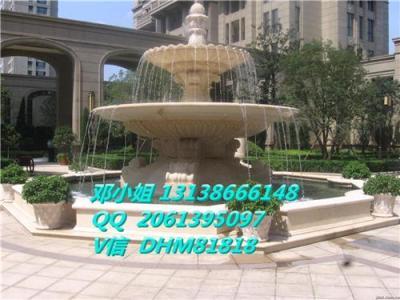 砂岩雕塑大喷泉人造石双层流水盆仿砂岩水钵