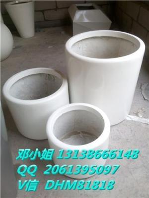 玻璃钢圆柱形FRP方形棱型欧式组合创意花盆