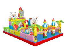 四川成都小孩子玩的充气蹦床安全又环保