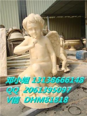 砂岩小天使圆雕人造仿汉白玉欧式女孩雕塑厂