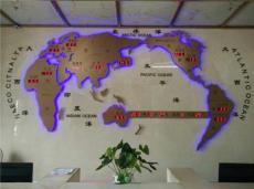 世界地图钟屏 酒店大堂用世界地图屏