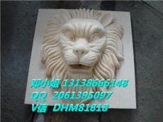 砂岩雕刻人造石喷水狮子头酒店流水盆厂家