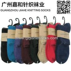 佛山針織襪廠保暖羊毛襪 純色女羊毛子 襪子
