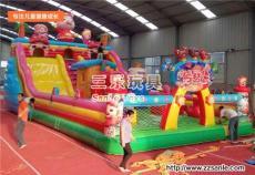 户外大型充气滑梯价格 广东惠州儿童跳跳床