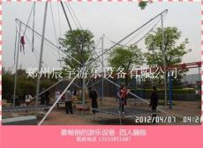 公园成人四人蹦极儿童游乐场飞车竞赛12座旋