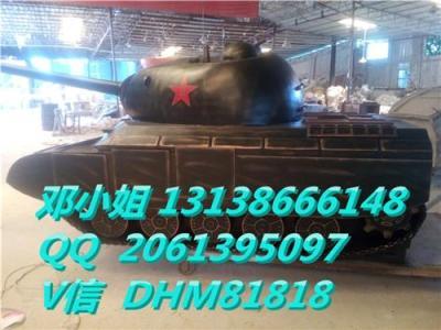 玻璃钢雕塑仿真坦克树脂大型坦克模型摆件厂