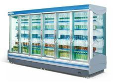 熱銷格瑞冷鏈風幕柜 整體式水果柜 蔬菜柜
