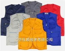 定制北京超市工作服马夹订做logo工装印字