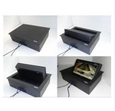 阔美19寸电动液晶屏桌面翻转器全自动升降机