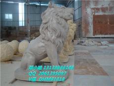 人造石雕塑狮子圆雕像砂岩浮雕狮头流水景墙
