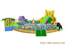 水上乐园项目 大象充气水滑梯厂家直销