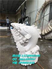 人造仿砂岩喷泉喷水池大象雕塑中式吐水鲤鱼