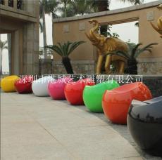江门玻璃钢休闲椅雕塑
