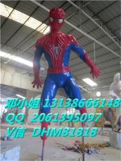 电影院道具雕塑蜘蛛侠圆雕大摆件玻璃钢模型
