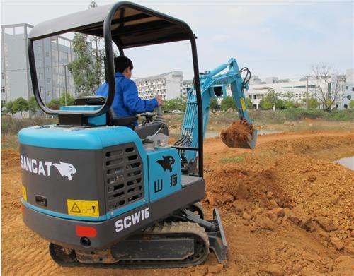 国产微型挖掘机
