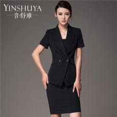 2016夏季新款短袖职业装女装套装修身工作服