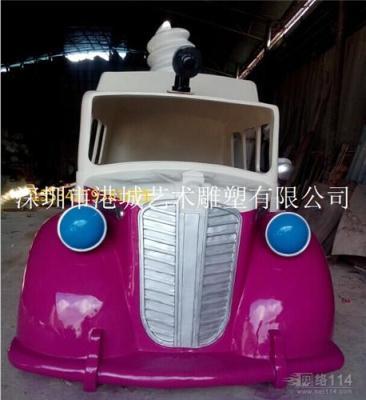 东莞防真玻璃钢汽车雕塑模型