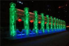 哈爾濱大型冰雕建筑設計施工 冰譽遠赴海內
