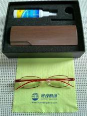 精品女士纯钛900-1200度超薄高度数眼镜
