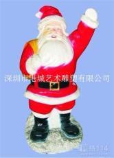 节庆玻璃钢圣诞老人雕塑
