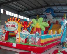 充氣城堡蹦蹦床價格 生產廠家華龍游樂